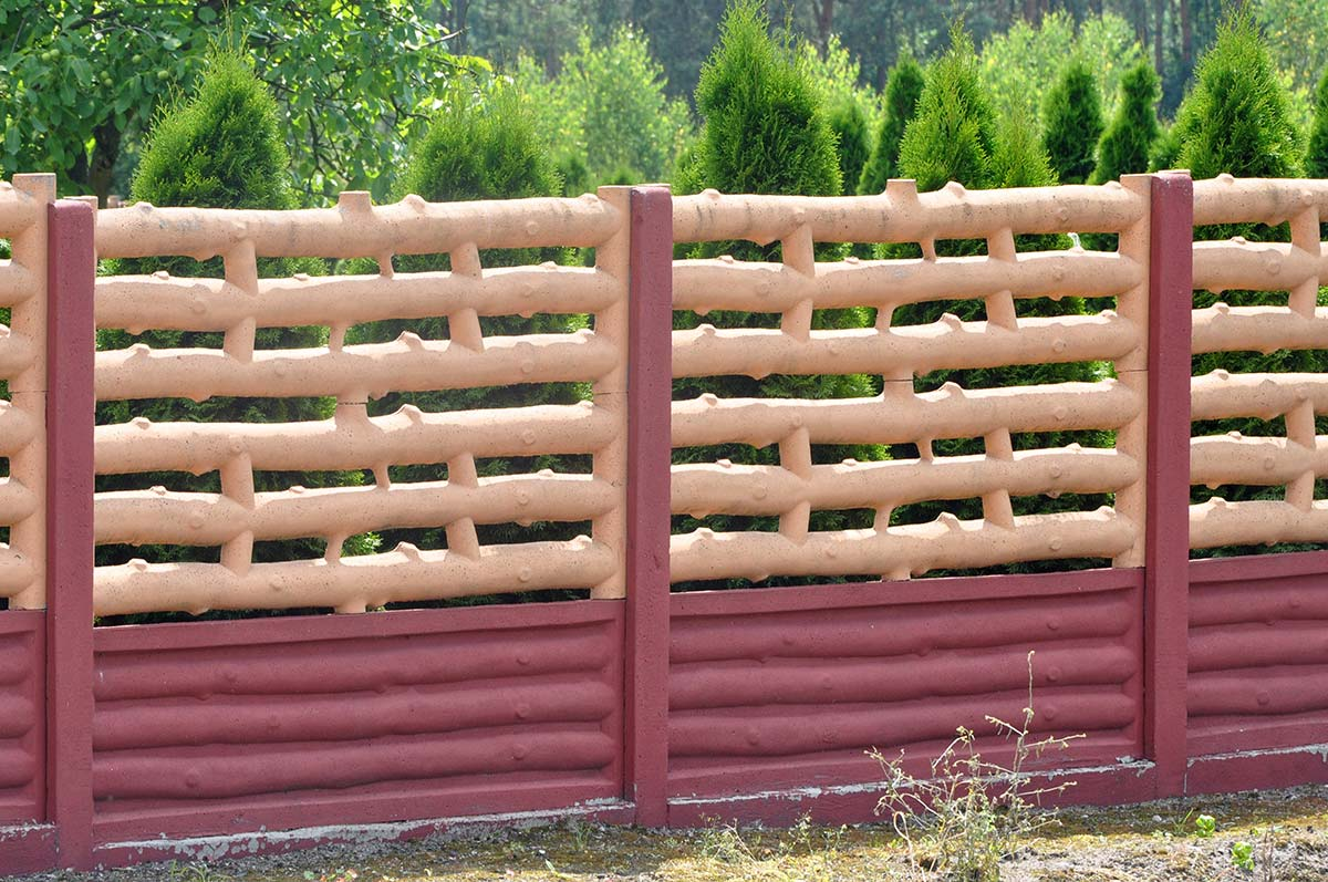 Model 16 - One-sided open-work concrete fence, Legnica