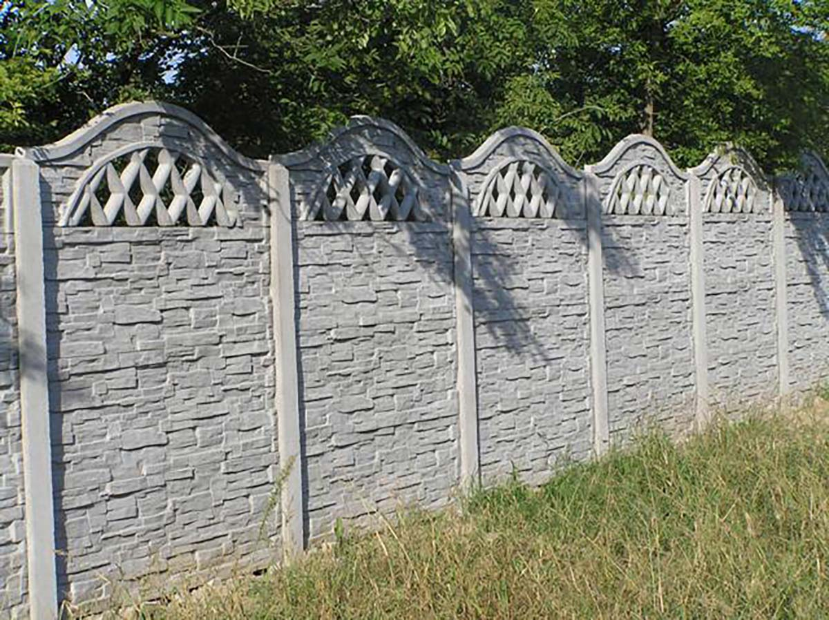 Model 22 - One-sided open-work concrete fence, Gdynia