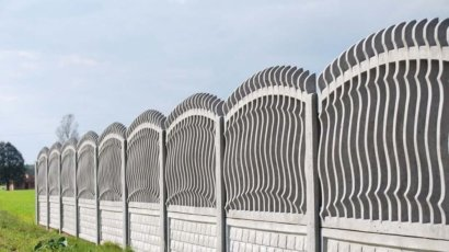 Model 2m - One-sided open-work concrete fence, Poznań