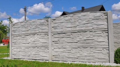 Model 27 - One-sided solid concrete fence, Bytom