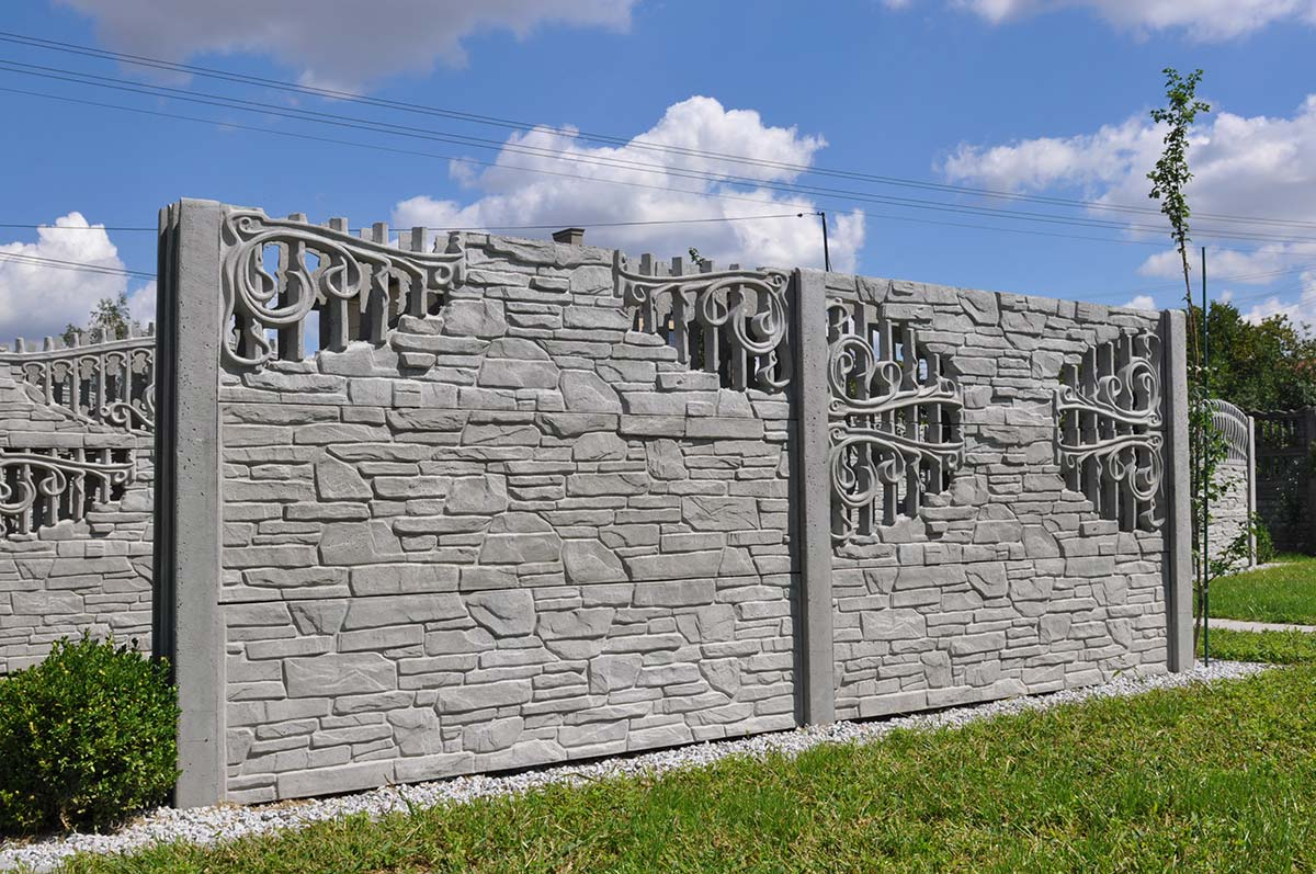 Model 53 - One-sided open-work concrete fence, Gdynia