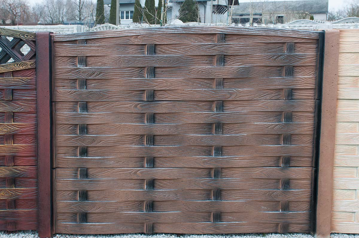 Model 55 - One-sided solid concrete fence, Poznań