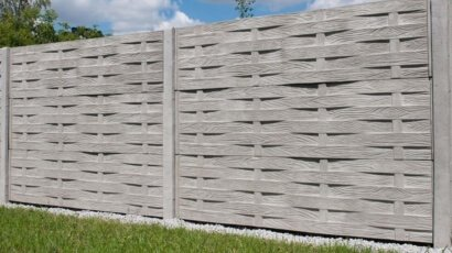 Model 57 - One-sided solid concrete fence, Skierniewice