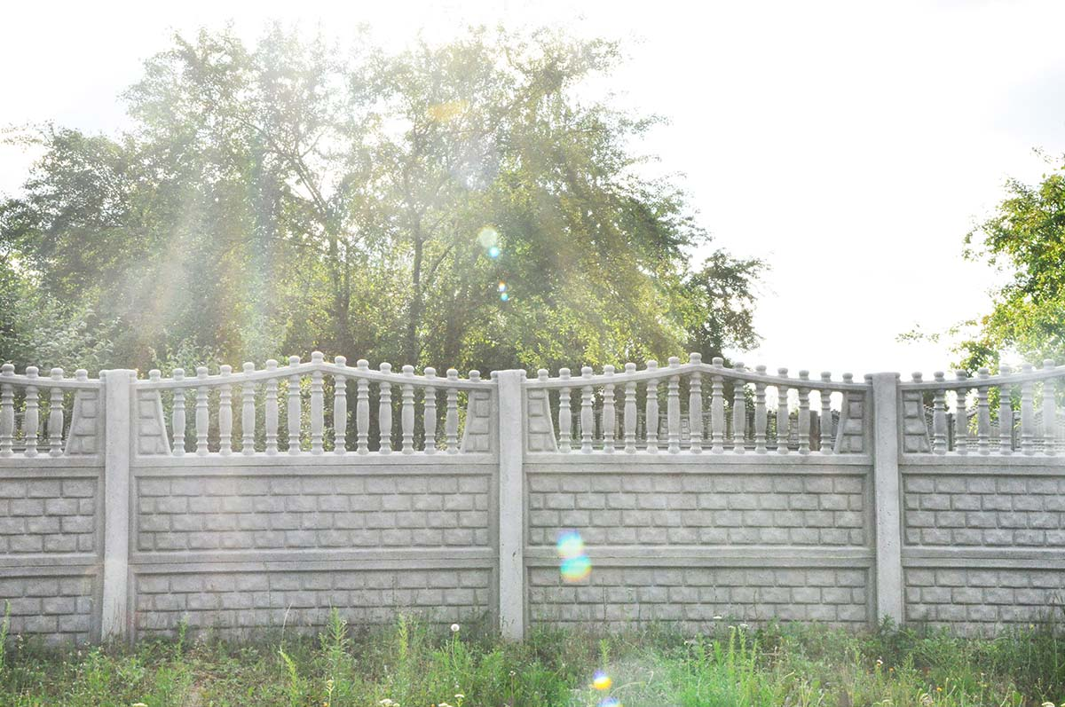 Model 6a - One-sided open-work concrete fence, Rybnik
